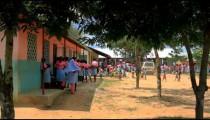 Normal traffic outside a school in a village in Kenya.