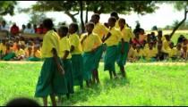 School performance near a village in Kenya.
