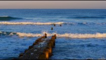 Stock Video Footage of an old, ruined pier at the Mediterranean Sea shot in Israel at 4k with Red.