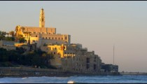 St. Peter's Church on the coast of the Mediterranean shot in Israel at 4k with Red.
