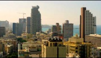 Stock Video Footage of Tel Aviv and the Mediterranean Sea shot in Israel at 4k with Red.