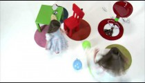 Royalty Free Stock Footage of Overhead shot of a young girl spinning.
