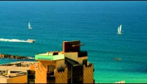Royalty Free Stock Video Footage of Mediterranean sailing at Jaffa shot in Israel at 4k with Red.