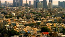 Royalty Free Stock Video Footage of Tel Aviv skyscrapers shot in Israel at 4k with Red.