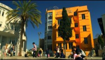 Royalty Free Stock Video Footage of Bialik Square in Tel Aviv shot in Israel at 4k with Red.