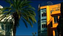 Stock Video Footage of Bialik Square buildings in Tel Aviv shot in Israel at 4k with Red.