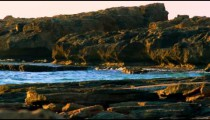 Royalty Free Stock Video Footage panorama of Dor Beach shot in Israel at 4k with Red.