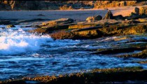 Royalty Free Stock Video Footage of the shore at Dor Beach shot in Israel at 4k with Red.