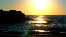 Royalty Free Stock Video Footage of sunset at Dor Beach shot in Israel at 4k with Red.