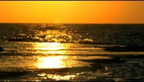 Royalty Free Stock Video Footage of a sunset reflection at Dor Beach shot in Israel at 4k with Red.