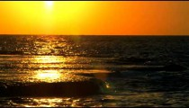 Sunset reflected in the Mediterranean at Dor Beach shot in Israel at 4k with Red.
