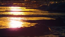 Stock Video Footage of the sunset reflection at Dor Beach shot in Israel at 4k with Red.