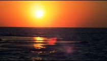 Royalty Free Stock Video Footage of the sunset at Dor Beach shot in Israel at 4k with Red.
