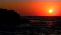 Royalty Free Stock Video Footage of the sunset over Dor Beach shot in Israel at 4k with Red.