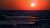 Stock Video Footage of the sunset over the Mediterranean at Dor Beach shot in Israel at 4k with Red.