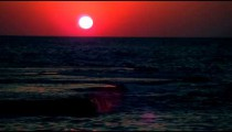 Royalty Free Stock Video Footage of a sunset and waves at Dor Beach shot in Israel at 4k with Red.