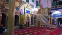 Royalty Free Stock Video Footage studying in mosque filmed in Israel at 4k with Red.