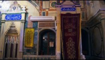 Royalty Free Stock Video Footage of mosque minbar shot in Israel at 4k with Red.
