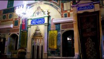 Royalty Free Stock Video Footage of mosque interior front shot in Israel at 4k with Red.
