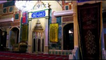 Royalty Free Stock Video Footage of mosque interior front wall shot in Israel at 4k with Red.