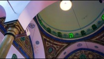 Royalty Free Stock Video Footage of dome interior of a mosque filmed in Israel at 4k with Red.
