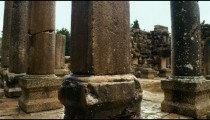 Royalty Free Stock Video Footage panorama of columns at Bar'am shot in Israel at 4k with Red.