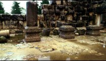 Royalty Free Stock Video Footage of a rain puddle in the Bar'am ruins shot in Israel at 4k with Red.