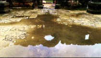 Royalty Free Stock Video Footage of the wet floor of the Bar'am ruins shot in Israel at 4k with Red.