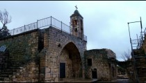 Royalty Free Stock Video Footage of an ancient church at Bar'am shot in Israel at 4k with Red.