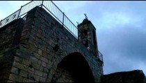 Stock Video Footage of clouds moving past a church's bell tower shot in Israel at 4k with Red.