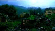 Royalty Free Stock Video Footage of overgrown ruins at Bar'am shot in Israel at 4k with Red.