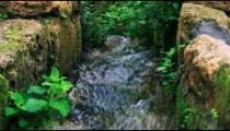 Royalty Free Stock Video Footage of water flowing in a stone aqueduct shot in Israel at 4k with Red.