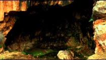Royalty Free Stock Video Footage of Pan's cave shot in Israel at 4k with Red.