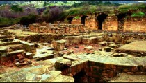 Royalty Free Stock Video Footage panorama of Palace of Agrippa shot in Israel at 4k with Red.