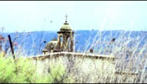 Royalty Free Stock Video Footage of an old Maronite Christian church shot in Israel at 4k with Red.
