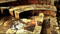 Royalty Free Stock Video Footage of bathhouse ruins at Agrippa Palace shot in Israel at 4k with Red.