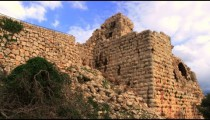 Royalty Free Stock Video Footage panorama of Nimrod Fortress walls shot in Israel at 4k with Red.