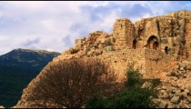 Royalty Free Stock Video Footage of a Nimrod Fortress wall shot in Israel at 4k with Red.