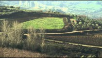 Royalty Free Stock Video Footage of hillside fields shot in Israel at 4k with Red.