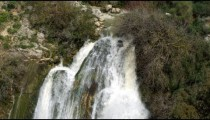 Royalty Free Stock Video Footage of top of Tahana Waterfall shot in Israel at 4k with Red.