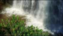 Royalty Free Stock Video Footage of bottom of Tahana Waterfall shot in Israel at 4k with Red.