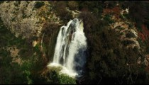 Royalty Free Stock Video Footage of Tahana Waterfall shot in Israel at 4k with Red.
