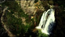 Royalty Free Stock Video Footage panorama of Tahana Waterfall shot in Israel at 4k with Red.