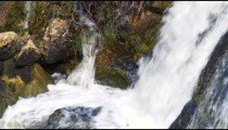 Royalty Free Stock Video Footage of the bottom of a waterfall shot in Israel at 4k with Red.