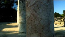 Royalty Free Stock Video Footage of ancient columns shot in Israel at 4k with Red.