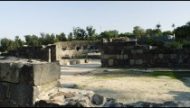 Royalty Free Stock Video Footage of ruined walls at Beit She'an shot in Israel at 4k with Red.