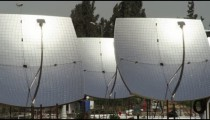 Royalty Free Stock Video Footage panorama of a solar power plant shot in Israel at 4k with Red.