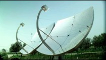 Royalty Free Stock Video Footage of a solar panel pair shot in Israel at 4k with Red.