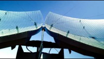 Royalty Free Stock Video Footage of solar panel dishes shot in Israel at 4k with Red.