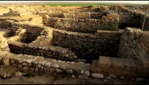 Royalty Free Stock Video Footage of the ancient Tel Be'er Sheva site shot in Israel at 4k with Red.